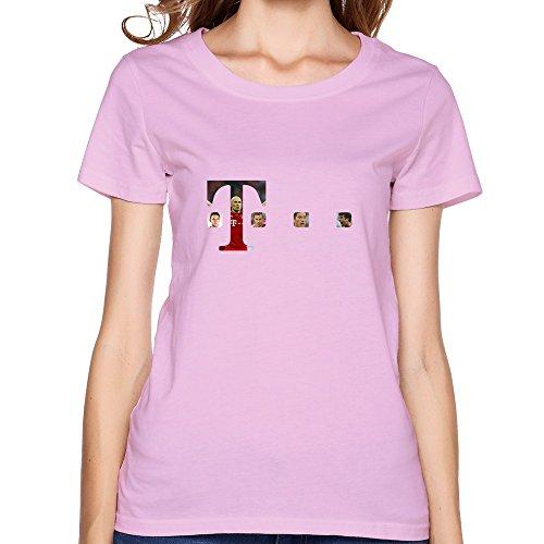 LIHOO UEFA 2015 Bayern Munchen Women's Tee Shirts Pink Size XL