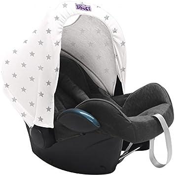 Dooky Hoody Sonnenschutz für Babyschale Design Sterne Blue Stars
