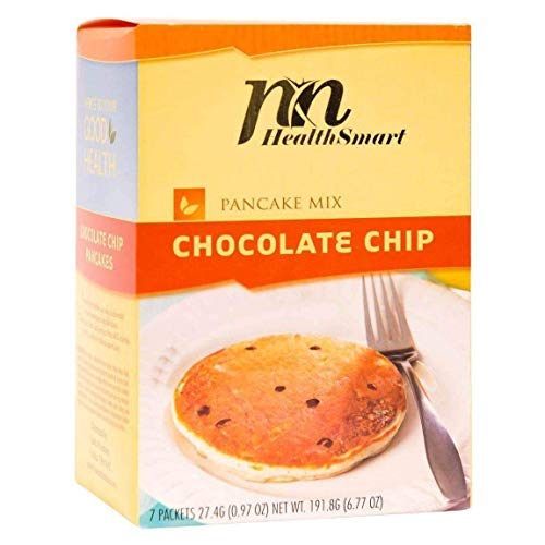 HealthSmart - High Protein Diet Pancakes - Chocolate Chip - 15g Protein - Low Calorie - Low Carb - Low Fat (7/Box)