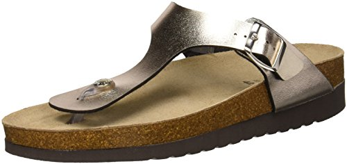 et de Hola Or Plage Anthracite Grunland Piscine Femme Chaussures Plat Platino CqIwnEU