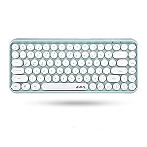 Ajazz ブルートゥース タブレット用キーボード かわいい レディースキーボード ワイヤレスキー