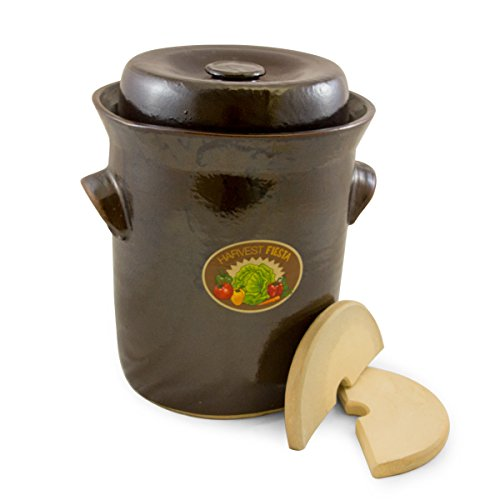 TSM Products 31041 Harvest Fiesta Fermentation Pot with Stone Weight, 10-Liter by TSM Products