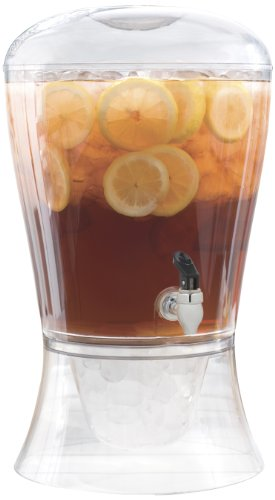 Beverage Dispenser With Spigot And Stand 3-Gallon Unbreakabl