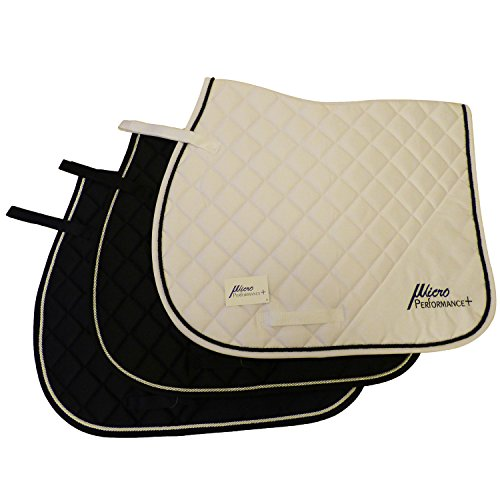MicroPerformance+ Advanced Saddle Pads AP Pads Suitable for Hacking, Jumping and Everyday Riding. Breathable with Sweat Absorbing Qualities. (Navy Blue)