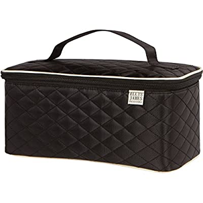 Best Cheap Deal for Ellis James Designs Large Quilted Travel Cosmetic Case Makeup Bag Organizer from Ellis James Designs - Free 2 Day Shipping Available