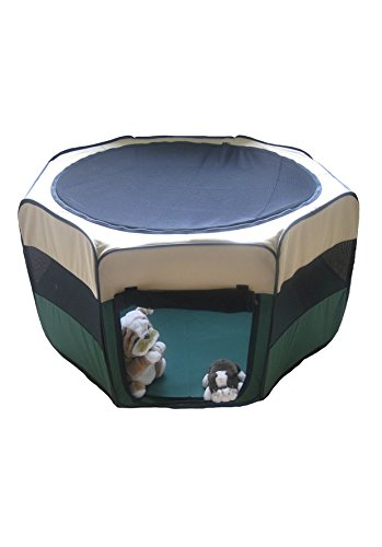 GoPetClub Exercise Pet Play Pen, Green