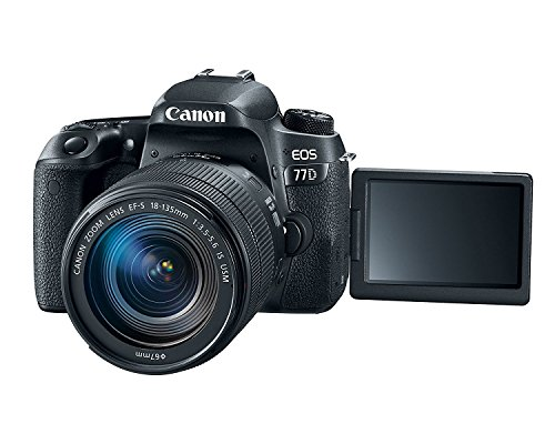 Canon EOS 77D 24.2MP Digital SLR Camera + EF-S 18-135 mm 3.5-5.6 is USM Lens with 16 GB Card Inside and Camera Case 3