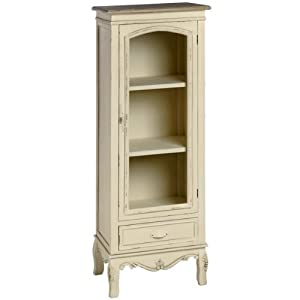 Shabby Chic French Style Country Tall Display Cabinet With