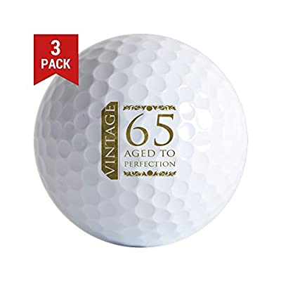 CafePress - Fancy Vintage 65Th Birthday - Golf Balls (3-Pack), Unique Printed Golf Balls