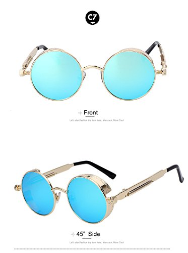 Round Metal Sunglasses Steampunk Men Women Fashion Glasses Vintage Sunglasses - Scratch Repair Sunglasses Oakley