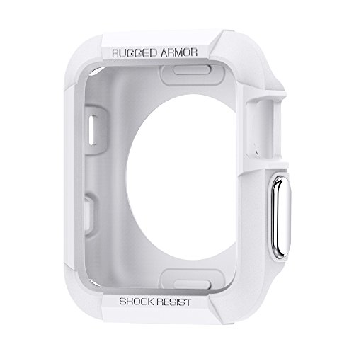 - Spigen Rugged Armor Designed for Apple Watch Case for 42mm Series 3/Series 2/1/Original (2015) - White