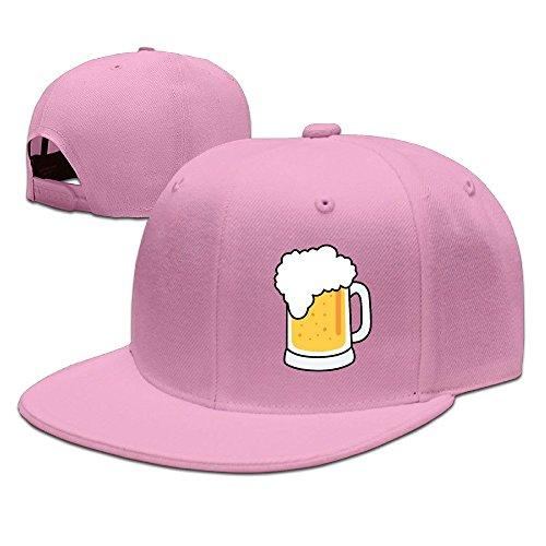 xssyz-i-love-beer-flat-bill-snapback-baseball-cap-pink
