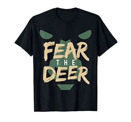 Fear The-Deer Shirt Gift For Milwaukee Basketball Bucks -