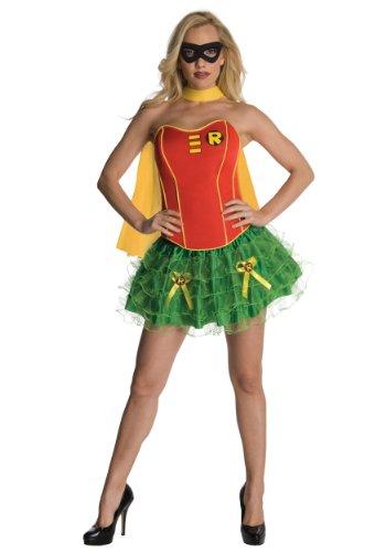 [Justice League Corset Costume - Medium - Dress Size] (Robin Corset Costume)