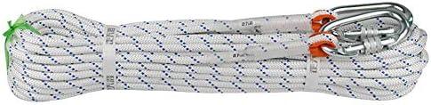 クライミングロープ、クライミングロープスタティックロープスピードドロップレスキューロープ空中作業安全ロープ、直径8 mm。,10m
