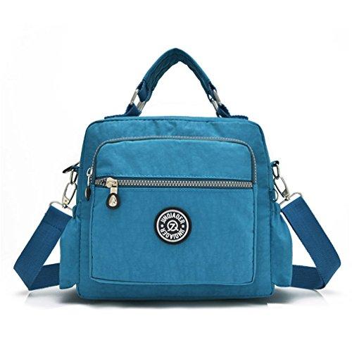 nylon tracolla solida casual piccola donna in borse morbida borsette Blue a impermeabile Estate donne Mujer wTqYgT