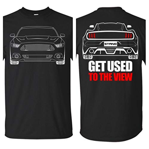 WheelSpinAddict Men's Debadged Ecoboost Mustang S550 T-Shirt Black