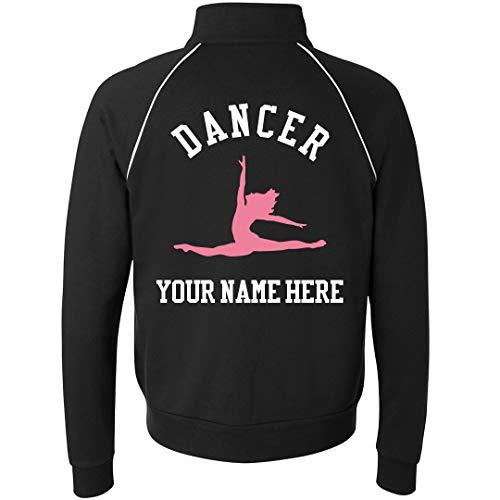 (Custom Dance Jacket: Unisex Canvas Full Zip Track Jacket Black)