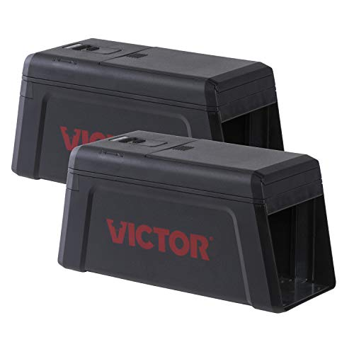Victor M241SR-2 Electronic Rat Trap-2 Pack, Black