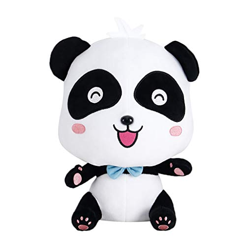 Unionm Plush Toy, Stuffed Animal Kawaii Cute 25cm Panda Animal Plush Pillow Bedtime Soft Cushion Baby Doll Gift for Adults/Kids/Boys/Girls/Dogs/Cats (A) -