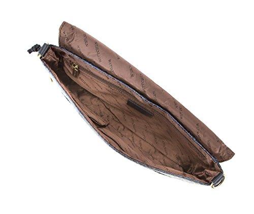 WITTCHEN Borsa classica, Blu Marino - Dimensione: 16x28cm - Materiale: Pelle di grano -Accomoda A4: No - 19-4-557-N