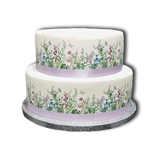 BUTTERFLIES Round Edible Birthday CAKE Image Icing Topper Party Decoration