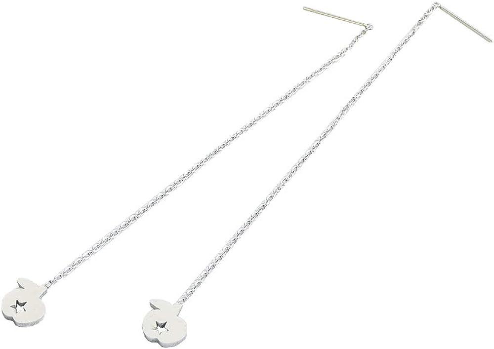 MiniJewelry Long Threader Earrings for Women Girls Drop Dangle Cute Long Stainless Steel Earrings