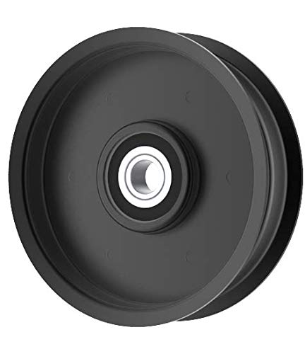 Flat Idler Pulley - 4'' Flat Dia. - 1/2'' Bore - Steel