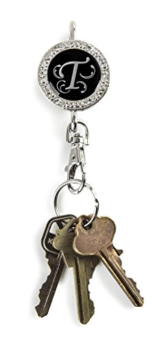 Alexx Finders Key Purse 01B-Mono T Bling Monogram T Finders Key Purse, Black