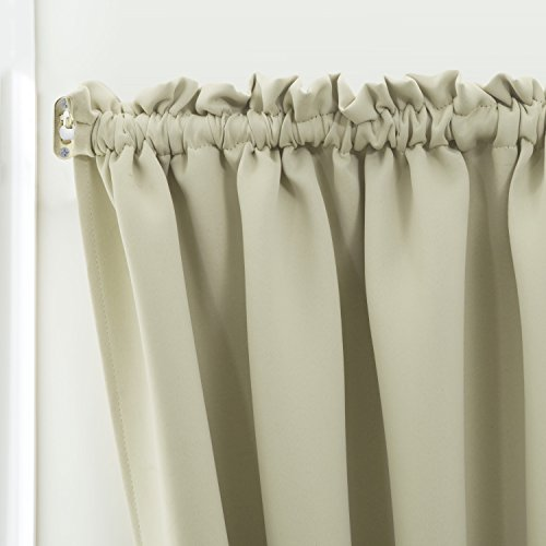 From Usa Blackout French Door Curtain For Privacy Aquazolax Soft Fabric Door Curtain 54x40