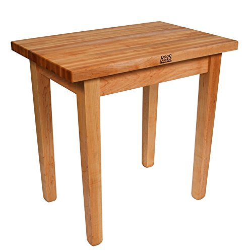 John Boos Country Work Table 48 x 36 x 35 - No Shelf - Maple by John Boos (Image #4)