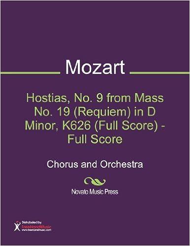 Hostias, No. 9 from Mass No. 19 (Requiem) in D Minor, K626 (Full Score)