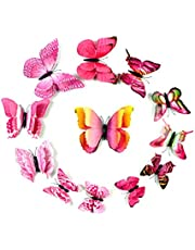 24 pieces butterfly wall sticker pvc wall painting bedroom living room wall decal waterproof removable magnet wall paper 3D diy wall mural for home decor