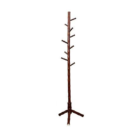 Amazon.com: ZUOANCHENCoat - Perchero de madera real con ...