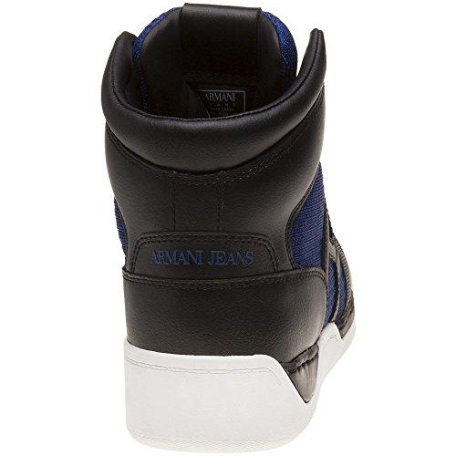 Barato Para La Venta Para La Venta Libre Del Envío Armani Jeans High Top Uomo Sneaker Nero Nero dxBD7z52bH