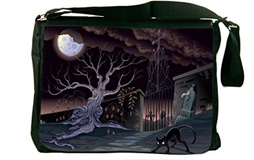 Rikki Knight Halloween Black Cat by graveyard Design Mess...