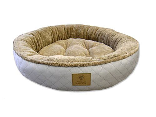American Kennel Club AKC Deluxe Diamond Quilted Jumbo Xl Pet Bed, Gray