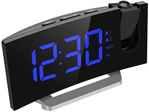 Mpow FM Radio Reloj Despertador con Proyector de Alarma Dual ...