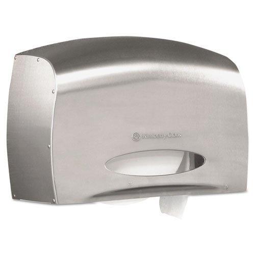 Kimberly-Clark 09601 Coreless JRT Jr. Bath Tissue Dispenser EZ Load 6x9.8x14.3 Stainless Steel