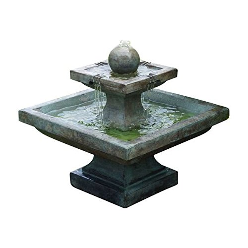 Henri Studio 2 Piece Low Equinox Fountain, Relic Ebony