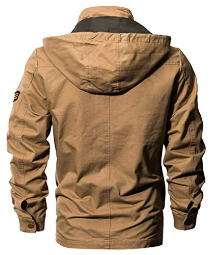 Color Sweat Otoño Multi Hombres Jacket Hombres Classic 1 Chaquetas Chic Piloto Bomber Chaqueta Pocket Martinad 2XL Hombres Size Schwarz Algodón Moda Sport Hombres Ntel xFpHwn5