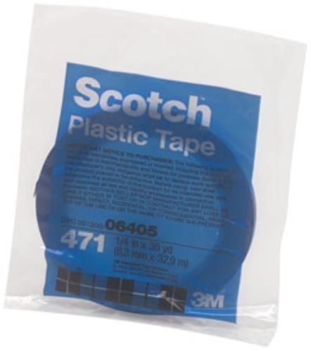 471 Marking Tape - 3M 471+ PN6405 Indigo Vinyl Tape, Conveniently Packaged, 1/4