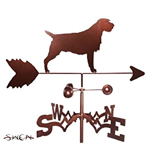 SWEN Products Hand Made Wirehaired Pointing Griffon Dog Side Mount Weathervane 3