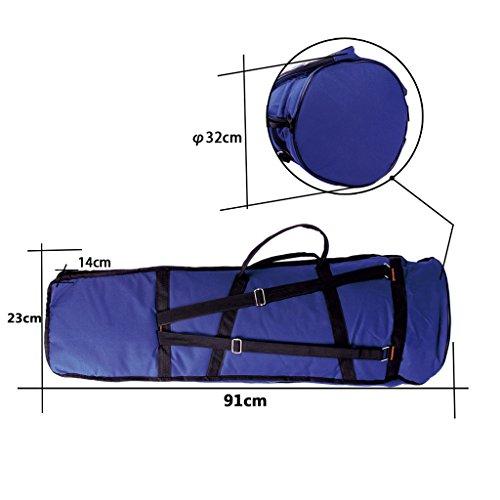 Jili Online Oxford Fabric Shoulder Bag Tenor Trombone Stage Bag for Trombonist Blue by Jili Online (Image #7)'