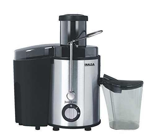 Inalsa Juicer for Fruits and Vegetables Electrical Automatic with Steel, Plastic and Aluminium Body