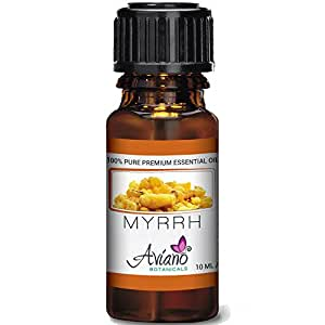 100% Pure Myrrh Essential Oil - Ultra Premium Undiluted Myrrh Oil By Aviano Botanicals - 10ml Bottle