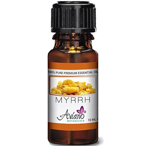 100% Pure Myrrh Essential Oil - Ultra Premium Undiluted Myrrh Oil By Aviano Botanicals - 10ml Bottle