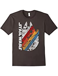 Millennium Falcon Wears Retro Stripes T-Shirt
