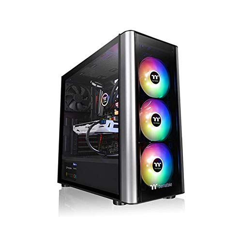 Thermaltake CA-1M7-00M1WN-00 Level 20 MT ARGB Mid Tower Tempered Glass Computer Case – Black