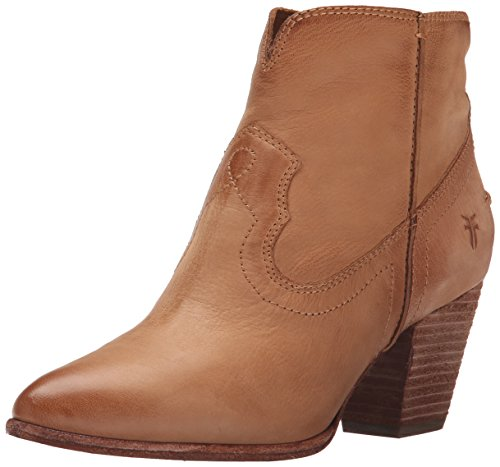 FRYE Women's Renee Seam Short Boot Camel Soft Oiled Leather-72065